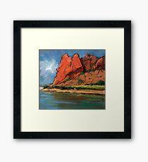 Glen Helen Gorge, Alice Springs Framed Print