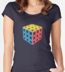 Neon Rubix Remix Women's Fitted Scoop T-Shirt