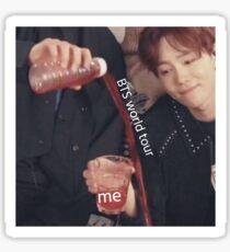 BTS world tour meme Sticker