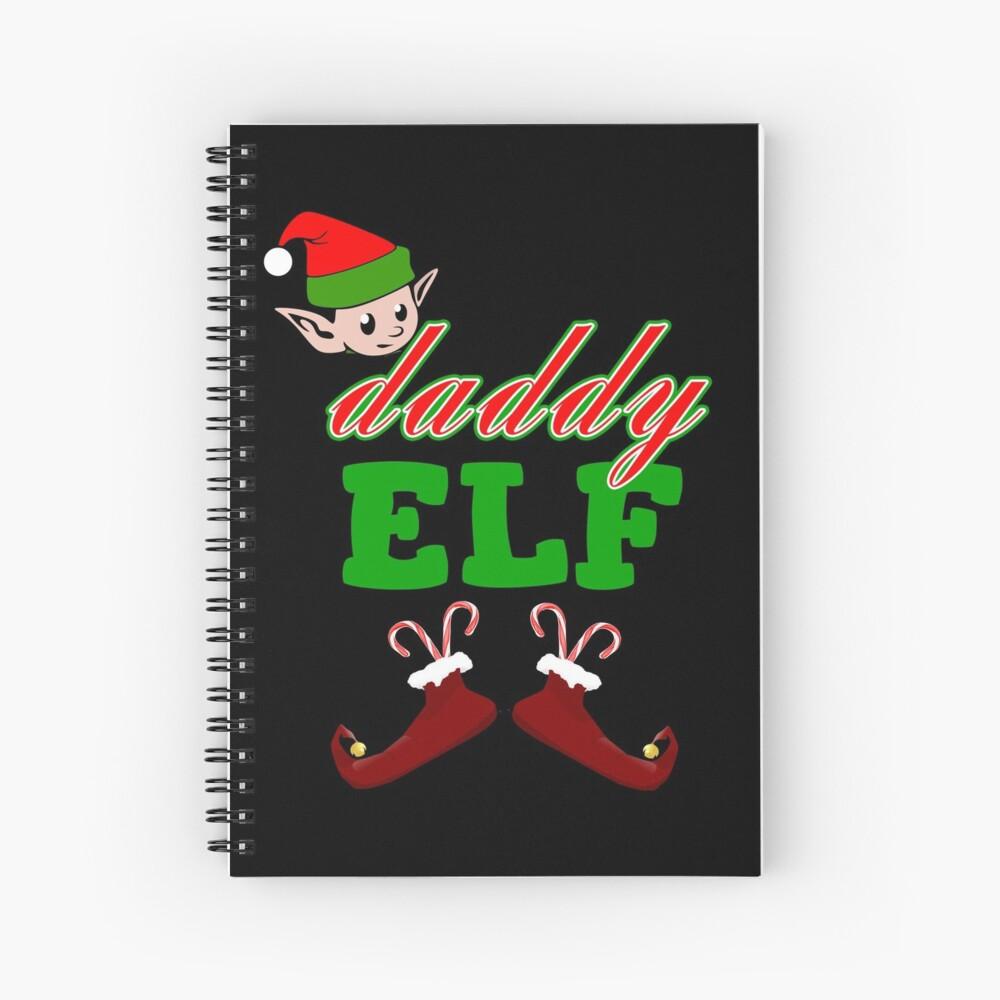 Papa Elf Weihnachtsgeschenk Spiralblock