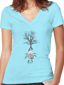 Living Together Women's Fitted V-Neck T-Shirt