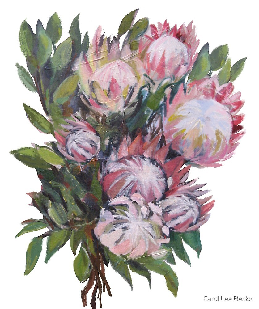 Protea bouquet by Carol Lee Beckx