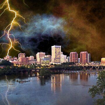 Stormy Richmond Skyline by FrankieCat