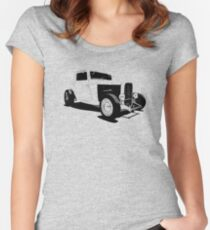 1932 Ford Model A - stylized line Women's Fitted Scoop T-Shirt
