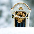 Xmas Decoration in the Snow by Ian Elmes