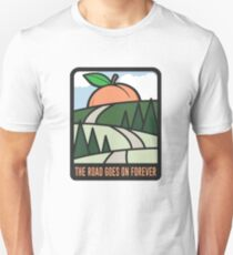 The Road Goes On Forever Slim Fit T-Shirt