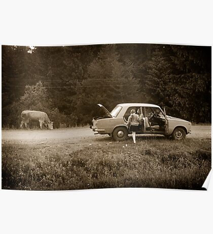 Oksana & the Cow, Ukraine Poster