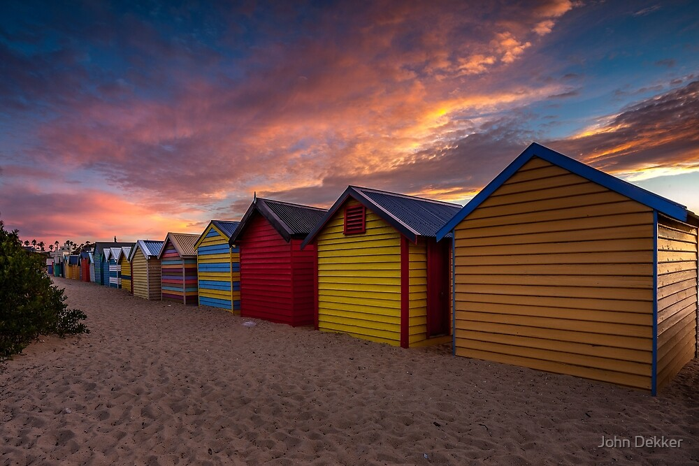 Bathing Boxes by John Dekker