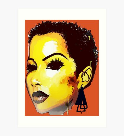 Twa Natural HairStyle Sly Dope Short Afro Art Print