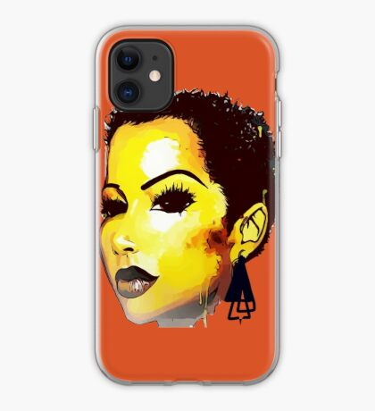Twa Natural HairStyle Sly Dope Short Afro iPhone Case