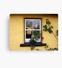 Bunratty Cottage Window Canvas Print