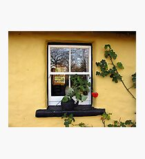Bunratty Cottage Window Photographic Print