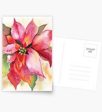 Christmas Poinsettia Watercolor Marsha Woods Postkarten