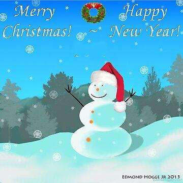 Christmas Snowman by EdmondHoggeJr
