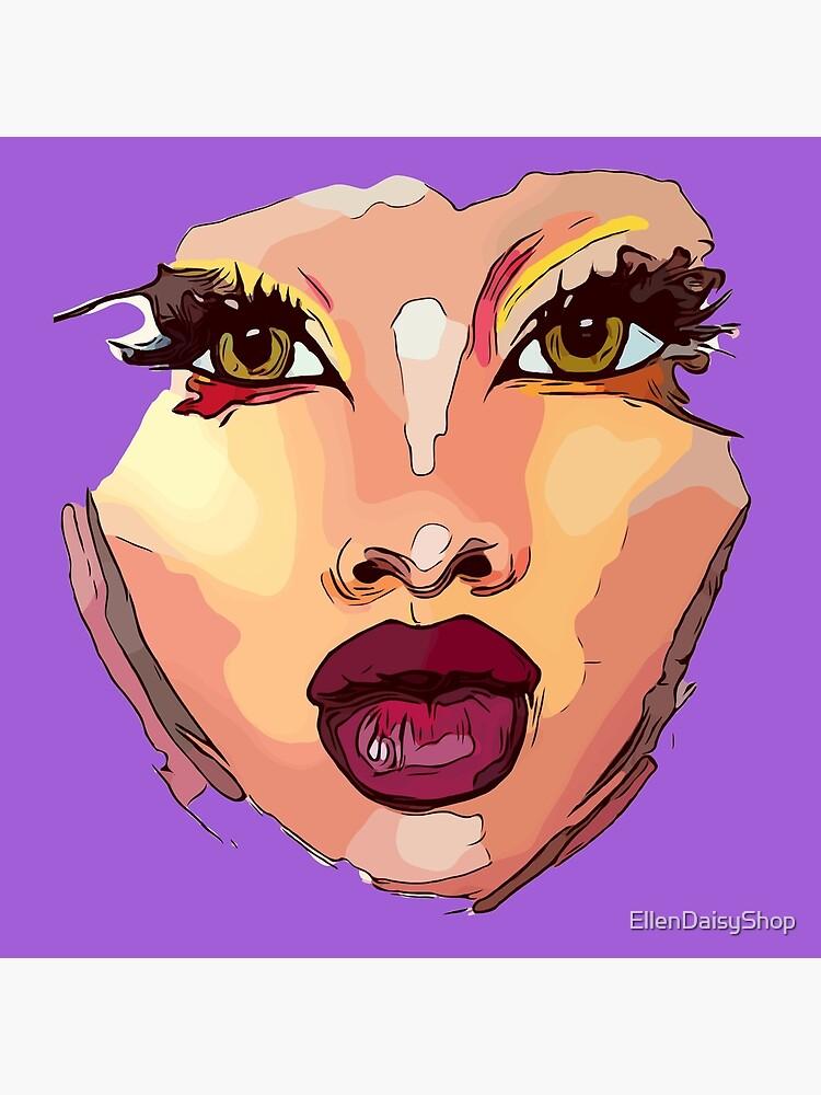 Beauty Queen Face Mask Art Natural Beauty Women by EllenDaisyShop