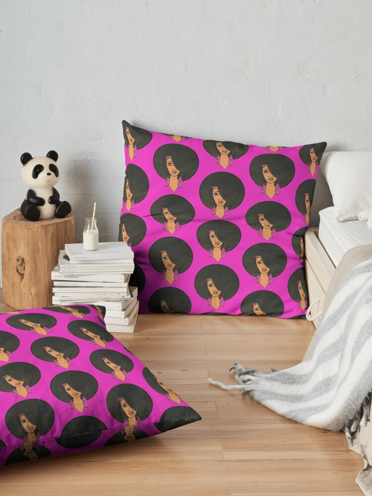Alternate view of Indian Women Beautiful Afro Sista  Floor Pillow