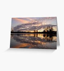 The Lough at sunset. Cork, Ireland  Greeting Card
