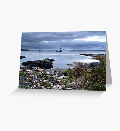 Blue Rocks-Late Autumn Greeting Card