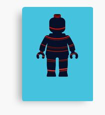 Minifig with Curved Stripes Canvas Print