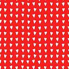 «Corazones blancos con fondo rojo» de alquimista