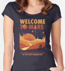 Welcome to Mars Fitted Scoop T-Shirt