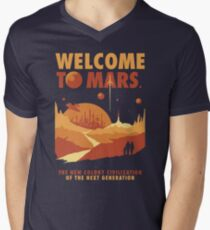 Welcome to Mars Men's V-Neck T-Shirt
