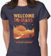 Welcome to Mars Women's Fitted T-Shirt