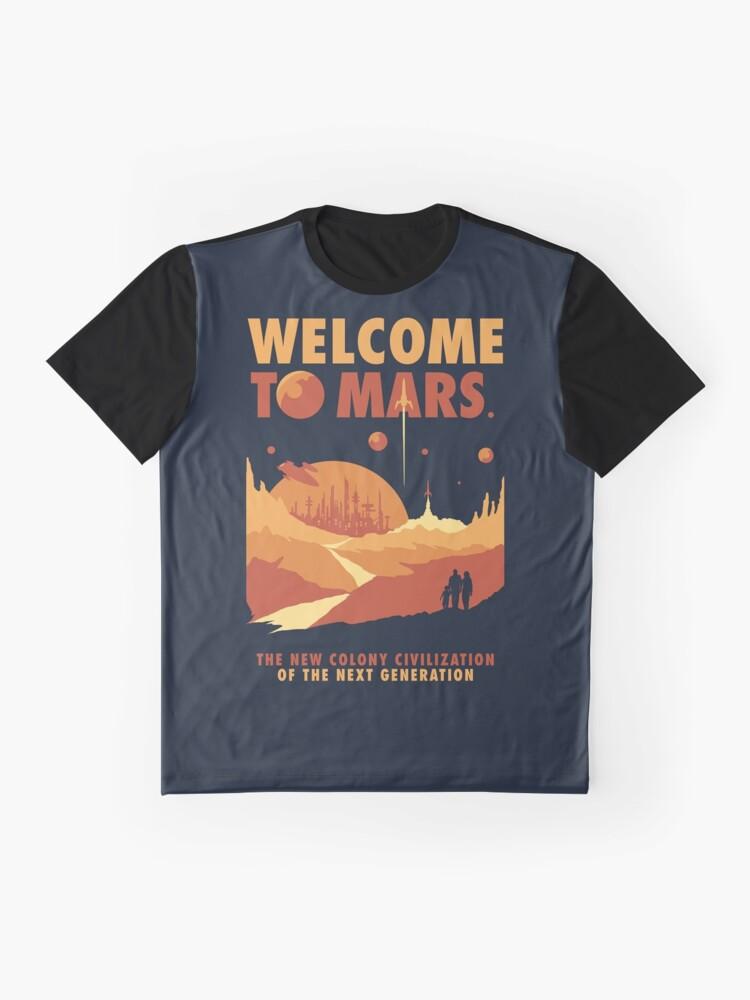 Alternative Ansicht von Willkommen auf dem Mars Grafik T-Shirt