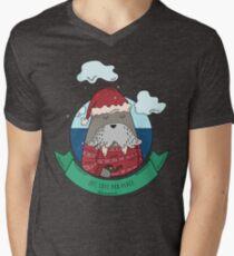 Funny Walrus Joy Love And Peace Men's V-Neck T-Shirt