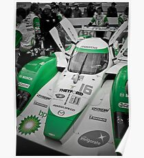 Green Photography Transportation Racing Lola Dyson ALMS LMP2 Poster