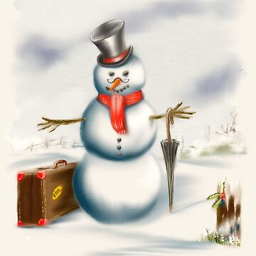 Uncle Snowman Goes Visiting for Christmas by Rasendyll