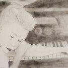 Girl on a piano - Hollow violin by math-ilda