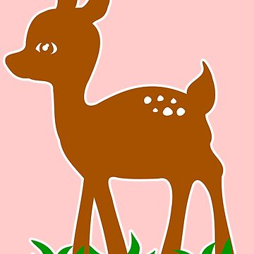 Roe Deer Comic Graphic Very Cute Lovely Design by xsylx