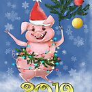 Postcard 2019 The New Year Of The Pig by Anthropolog