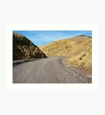 Mustard Canyon Road Art Print