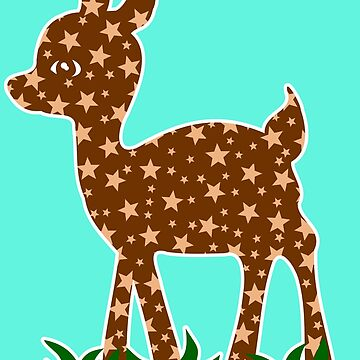 Roe Deer Comic Graphic Very Cute Lovely Stars by xsylx