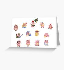 Pigs collection Greeting Card