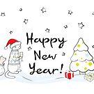 Happy New Year 2019! Oink! Oink! by runcatrun
