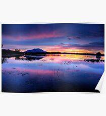 Purple Granite Mountain Sunset Poster