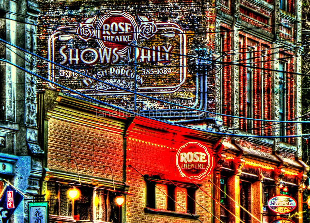 The Rose Theatre ~ Port Townsend, Wa ~ HDR Series by lanebrain photography