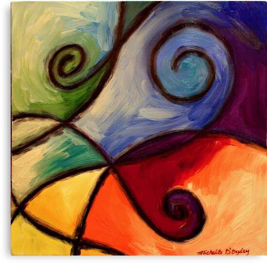 Color Blocks by Abstract D'Oyley