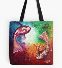 The Two Koi Tote Bag