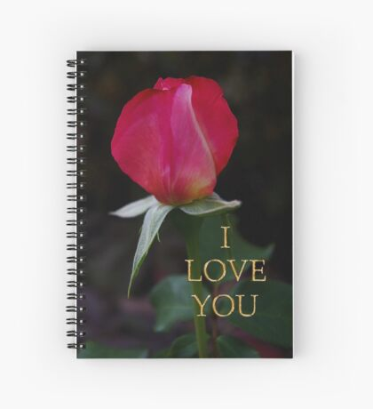 rose bud love card Spiral Notebook