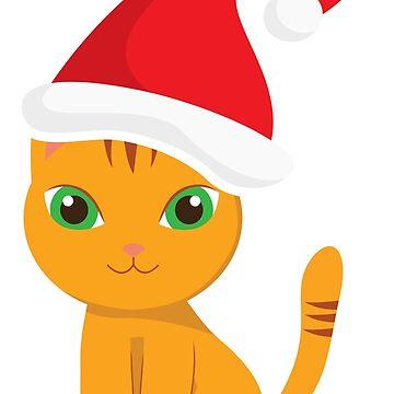 Funny Xmas Cat Christmas Kitten  by ViVedX