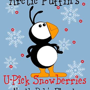 NOT NOW Arctic Puffin Snowberries by TeeCreations