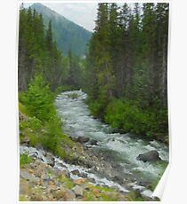 """Fraser River Tributary  (2009)  - 18""""x24"""" max print size Poster"""