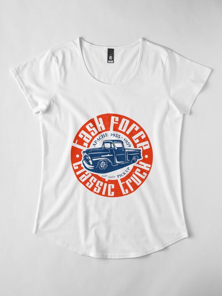 Alternative Ansicht von Task Force Apache Classic Truck 1955 - 1959 Premium Rundhals-Shirt