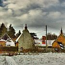 Cottages In The Snow by SimplyScene