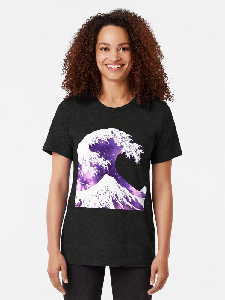 Alternative Ansicht von Große Welle Vintage T-Shirt