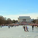 On Ice at the Lincoln Memorial by Cora Wandel